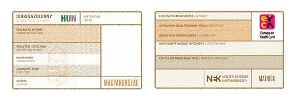 Student Card example